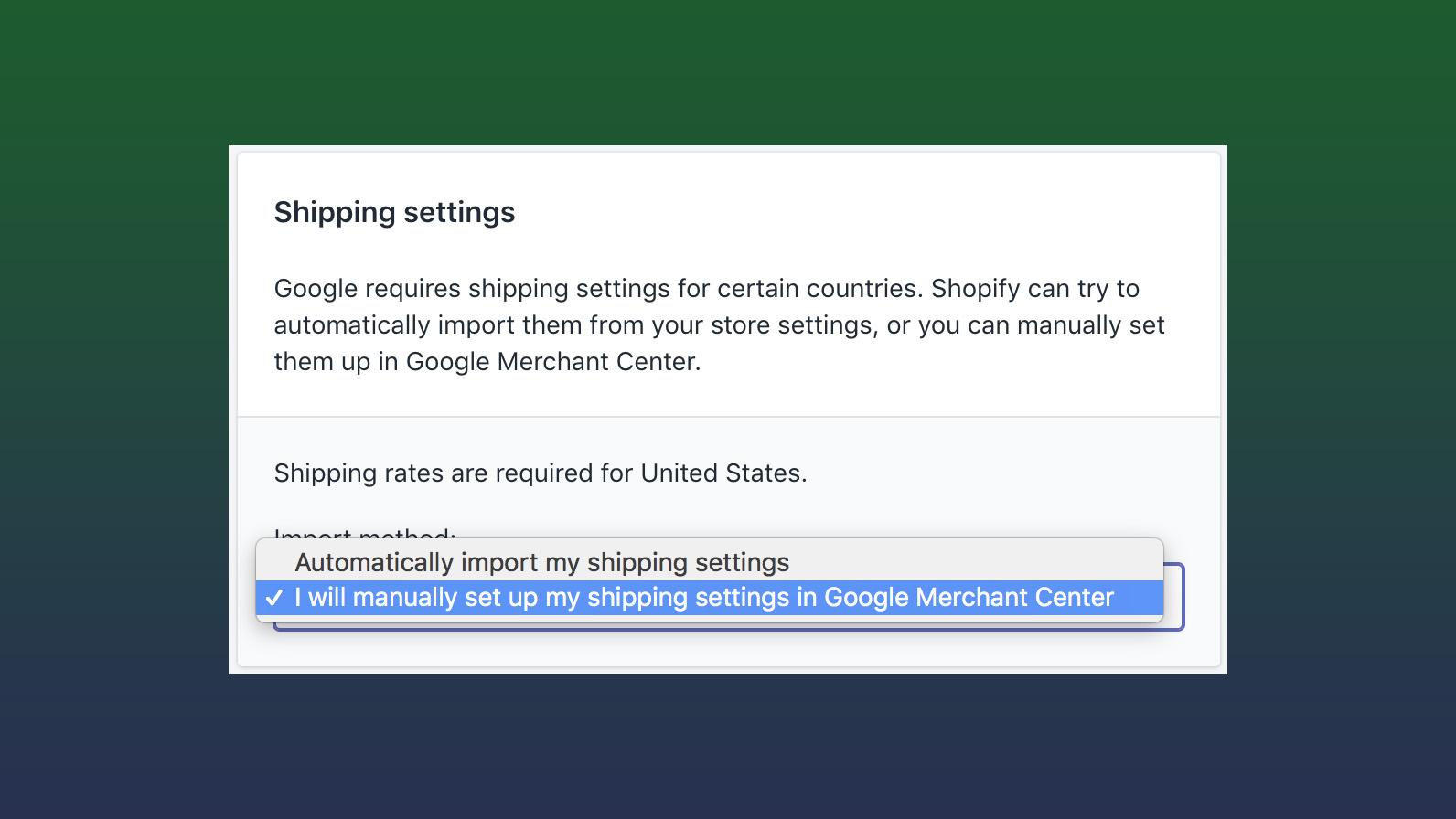 Fix Shopify Google Merchant Center Shipping Errors